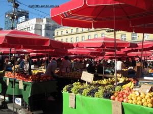 Marché Dolac en plein air