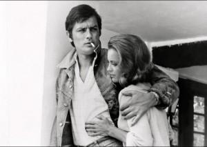 Delon et Romy Schneider en 1968. Photo : archive.francesoir.fr/