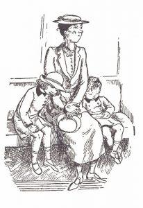 Dessin de Mary Shepard pour l'édition anglaise originale